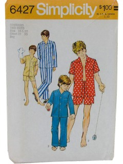 1970's Mens/Boys Sewing Pattern