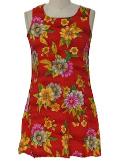 1980's Womens Hawaiian Mini Dress