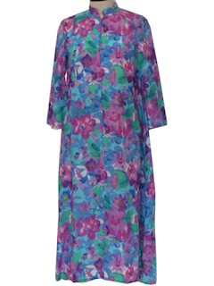 1970's Womens Lounge Maxi Dress
