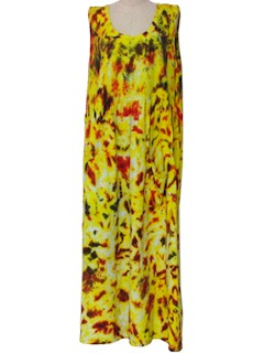 1990's Womens Hippie Maxi Dress