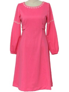 1960's Women Polyester Knit Dress