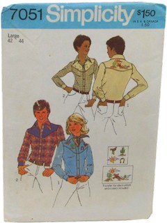 1970's Womens Or Mens Pattern