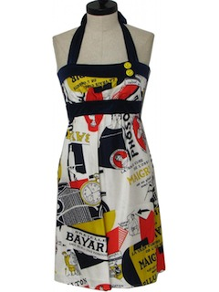 1950's Womens Mini Halter Sun Dress