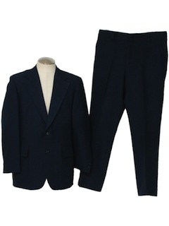 1970's Mens Polyester Knit Suit