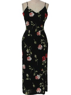 1980's Womens Gown Cocktail Maxi Dress