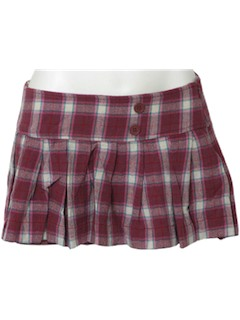 1990's Womens Punk Micro Mini Skirt