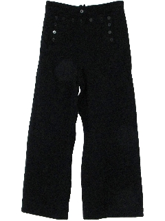 1960's Mens Wool Navy Bellbottom Pants