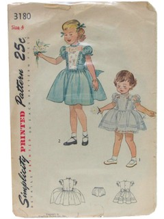 1950's Womens/Child Dress Pattern