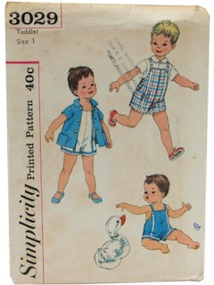 1950's Mens/Child Play Pattern