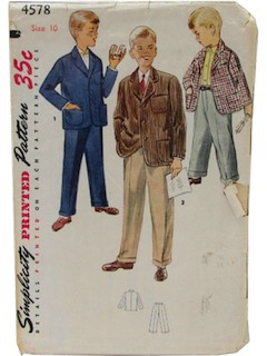 1950's Mens/Child Dress Pattern