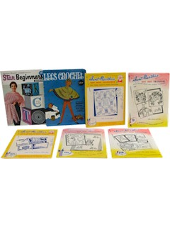 1960's Craft Transfer Patterns & Instruction Books
