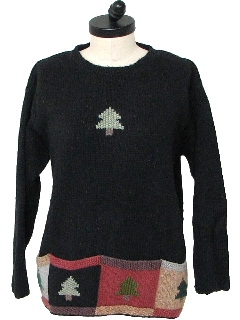 1980's Womens Minimalist Ugly Christmas Sweater