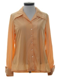 1970's Womens Shiny Disco Shirt