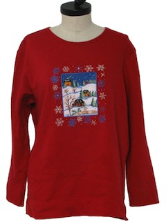 1980's Unisex Ugly Christmas Sweater Sweatshirt