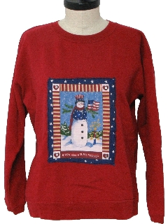 1980's Womens Ugly Christmas Sweater Sweatshirt