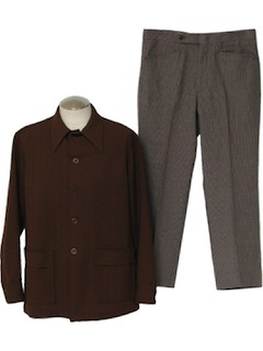 1970's Mens Mod Combo Leisure Suit