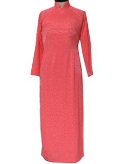 1960's Womens Cheongsam Maxi Dress