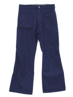 1970's Mens Denim Bellbottom Pants