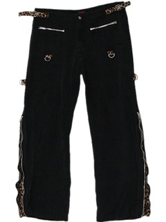 1990's Womens Punk Bondage Pants