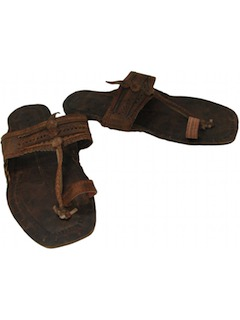 1970's Unisex Accessories - Leather Hippie Jesus Sandal Shoes