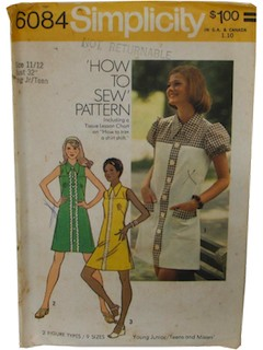 1970's Womens/Teen Pattern