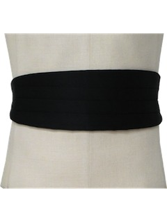 1980's Mens Accessories Cummerbund