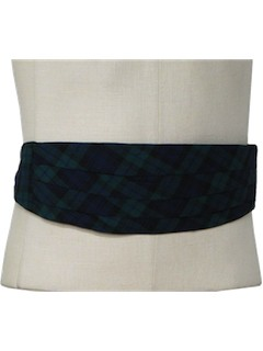 1960's Mens Accessories Cummerbund