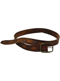 1970's Mens Leather Hippie Belt