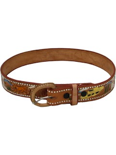 1970's Mens/Boys Leather Western Belt