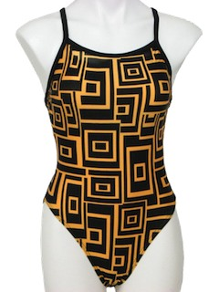 1980's Womens Totally 80s Swimsuit