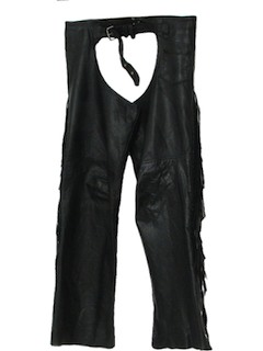 1980's Mens Leather Chaps Pants