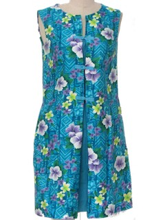 1960's Womens Mini Hawaiian Dress