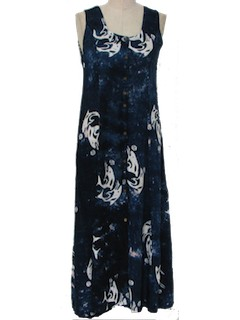 1980's Womens Gown Hippie Maxi Dress