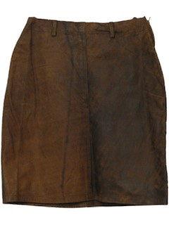 1990's Womens Leather Mini Skirt