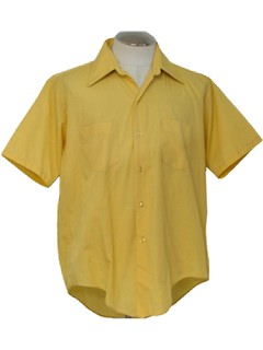 1970's Mens Solid Dress Shirt