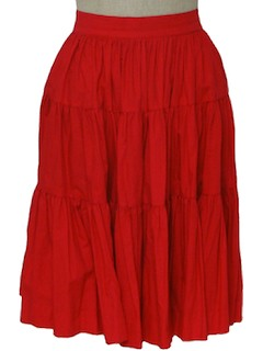 1960's Womens Christmas Red Skirt