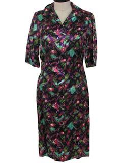 1950's Womens Print Dress