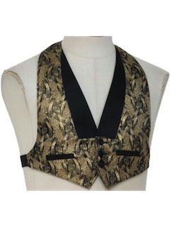 1980's Mens/Boys Totally 80s Tuxedo Vest