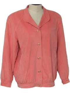 1980's Womens Faux Suede Jacket