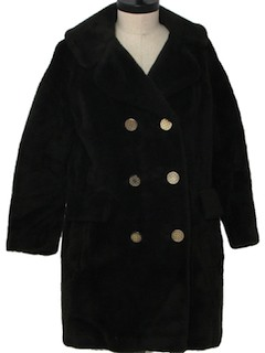1970's Womens Fake Fur Coat