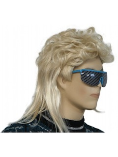 1980's Unisex Accessories - Wigs /Totally 80s Style Blonde Mullet Wig