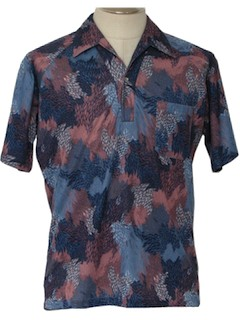 1980's Mens Print Disco Shirt