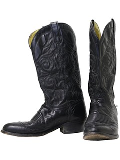 1980's Mens Accessories - Shoes - Cowboy Boots