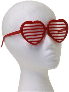 1980's Womens Accessories - Totally 80s Red Christmas Party Sunglasses