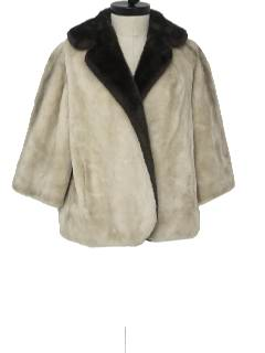 1960's Womens Faux Fur Jacket