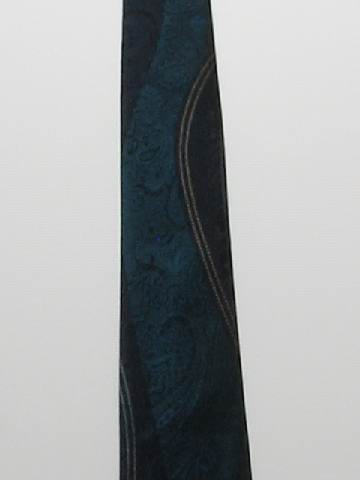 1980's Mens Skinny Rockabilly Sharkskin Necktie