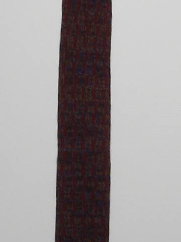 1960's Mens Skinny Rockabilly Square Bottom Necktie