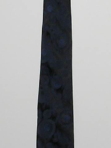 1960's Mens Skinny Rockabilly Sharkskin Necktie