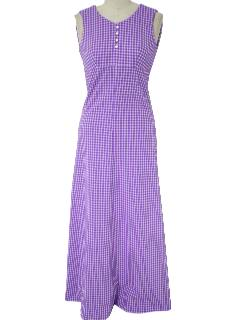 1960's Womens Maxi Knit Dress