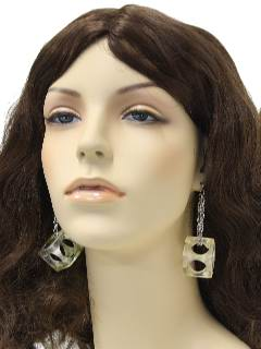 1960's Womens Accessories - Jewelry / Ice Cube Earrings